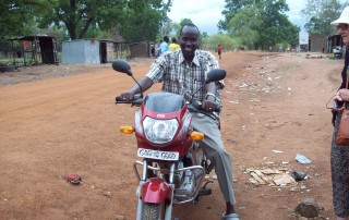 Bishop Stephen – motorcycle is a good means of transport in Lui