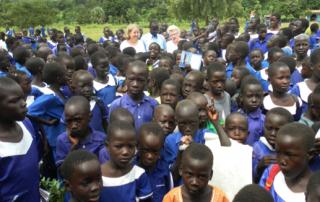 Children at Lunjini Church Primary School