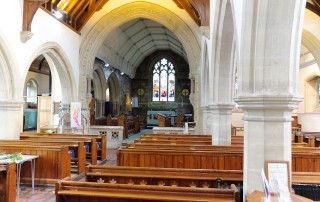 St Nicholas' Child Okeford interior