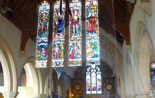 St Nicholas' Child Okeford reflected window