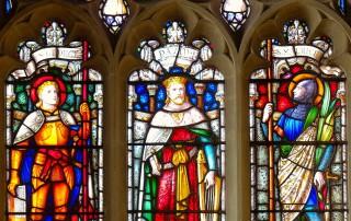 St Nicholas' Child Okeford window