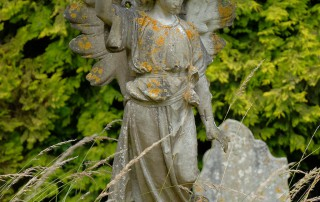 St Andrew's Okeford Fitzpaine angel headstone